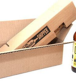 shipping box for one beer bottle