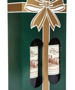 economy wine gift box for 2 bottles
