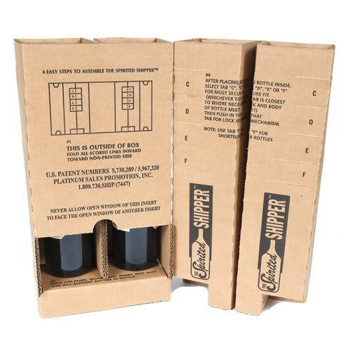 protective padding for two wine bottles