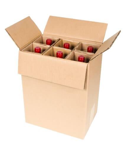 6 bottle wine shipping box