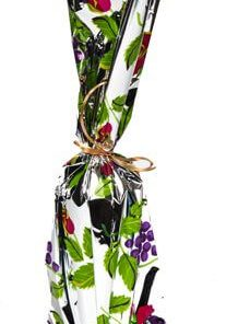 Mylar Gift Bag - Grape Design (One Bottle Wine)