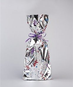 Mylar Gift Bag - Confetti Design (One Bottle Wine)