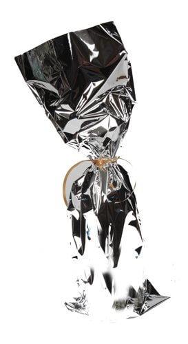 Poly Gift Bag - Silver (Magnum Wine Bottle)